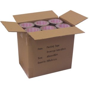 Brown PVC Tape 66m x 50mm (36 Pack)