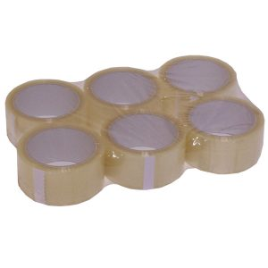 Clear PVC Tape 66m x 50mm (6 Pack)